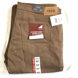 NEW Izod Men's Khaki Jeans 40 x 32